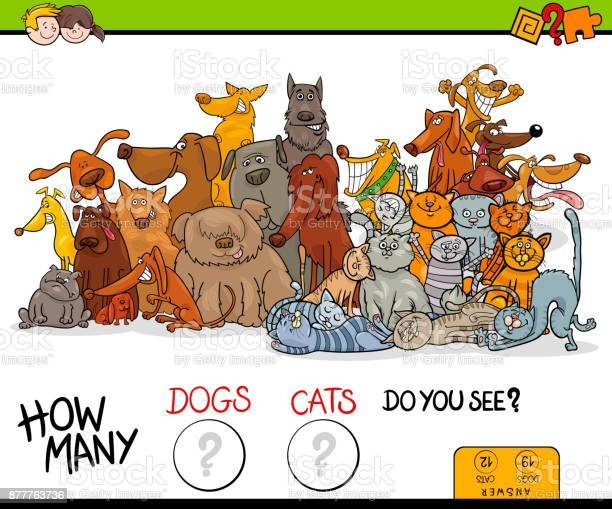 How many dogs and cats educational game vector id877763736?b=1&k=6&m=877763736&s=612x612&h= 3y4iphddedauifcs0bax7r svo94mzffzjolg62fry=