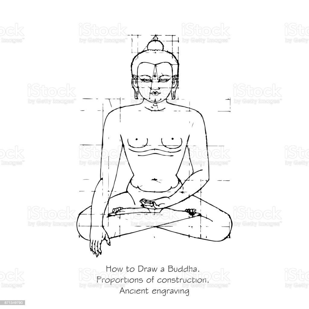 Gewusst Wie Zeichnen Sie Eine Silhouette Eines Buddha Proportionen ...