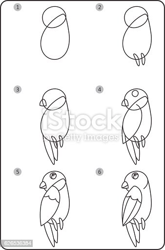 How to draw bird easy drawing bird for children step by step stock vector art more images of animal 626536384 istock