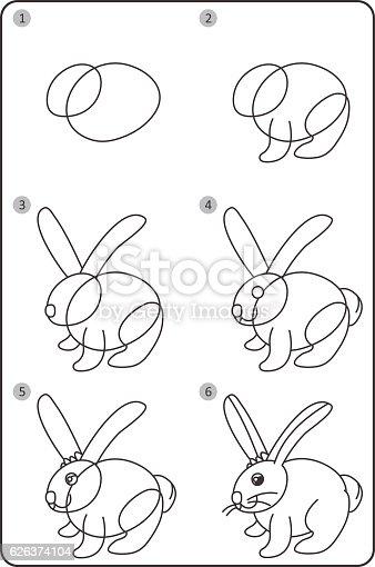 easy rabbit drawing