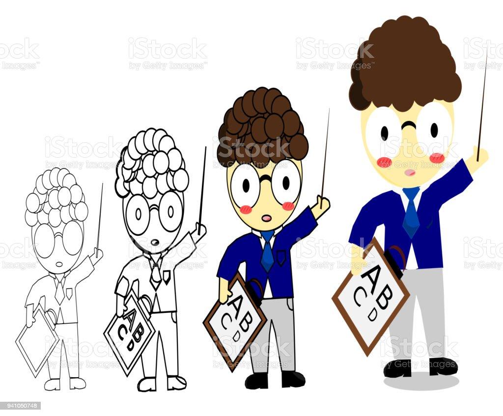 Gewusst Wie Zeichnen Lehrer Cartoon Stock Vektor Art und mehr Bilder ...