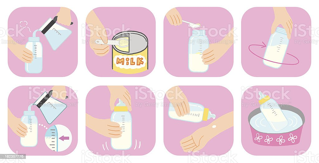 How To Make Milk Stock Vector Art & More Images of Baby ...
