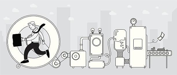 ilustrações, clipart, desenhos animados e ícones de como fazer dinheiro - mecânico