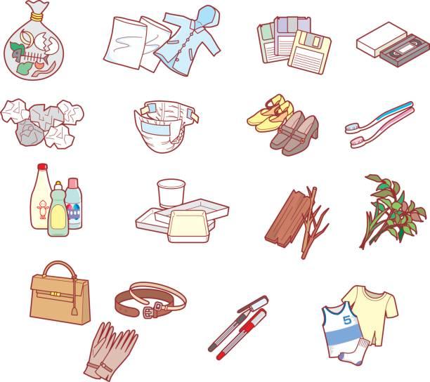 ilustraciones, imágenes clip art, dibujos animados e iconos de stock de cómo separar la basura - leftovers