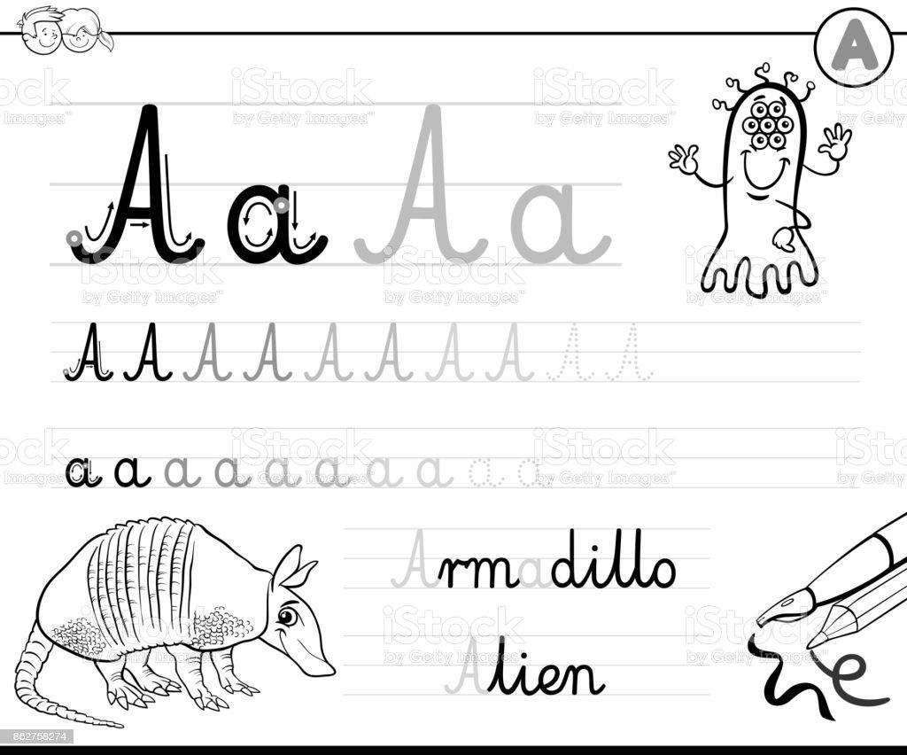 Gewusst Wie Schreiben Sie Buchstaben Aarbeitsblatt Stock Vektor Art ...