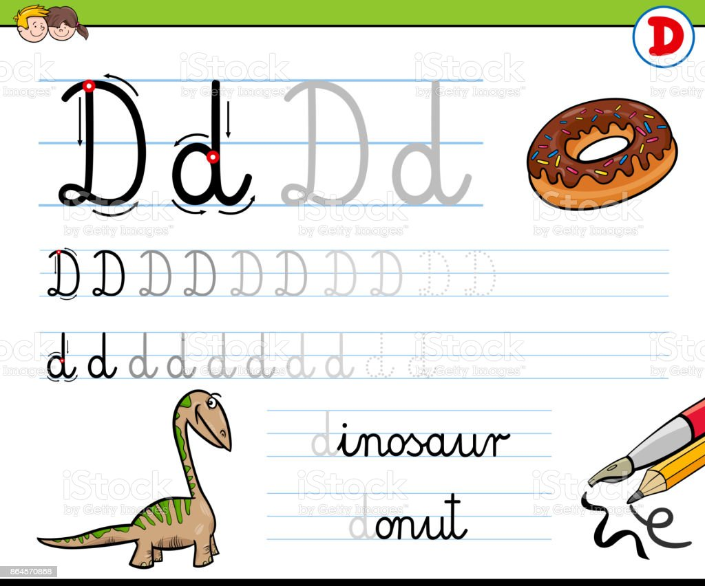 Gewusst Wie Schreiben Sie Buchstaben D Arbeitsblatt Für Kinder ...