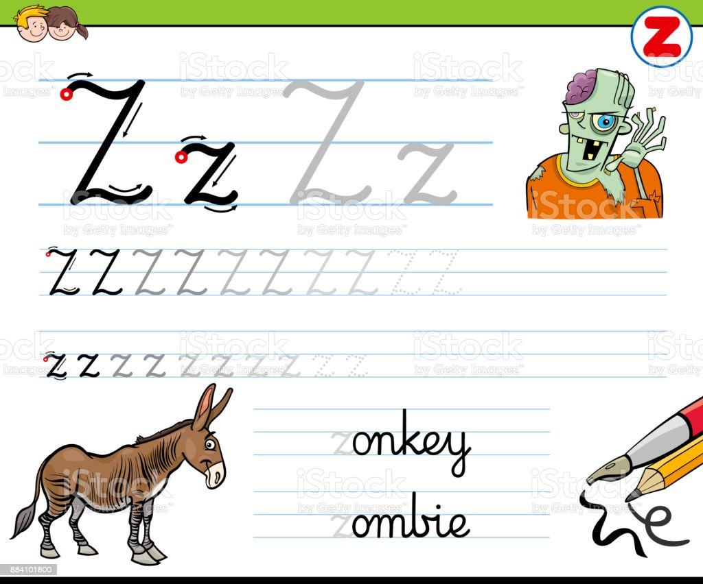 Gewusst Wie Schreiben Sie Buchstaben Z Arbeitsblatt Für Kinder ...