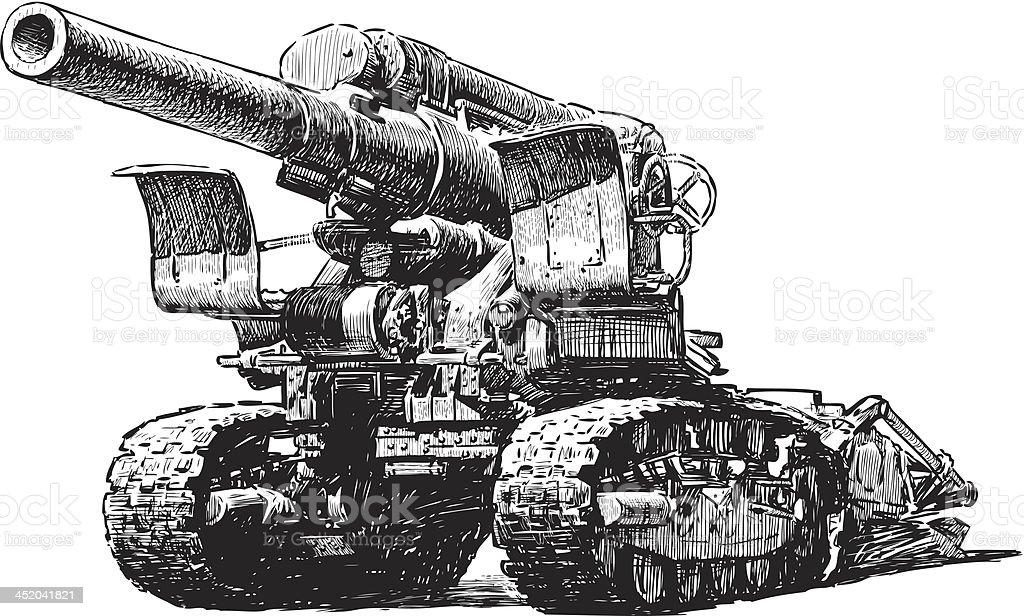howitzer royalty-free stock vector art