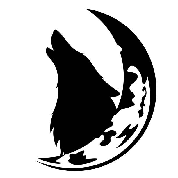 Best Wolf Face Outline Silhouette Illustrations, Royalty ...