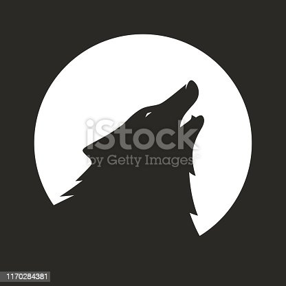 Side view of wolf icon