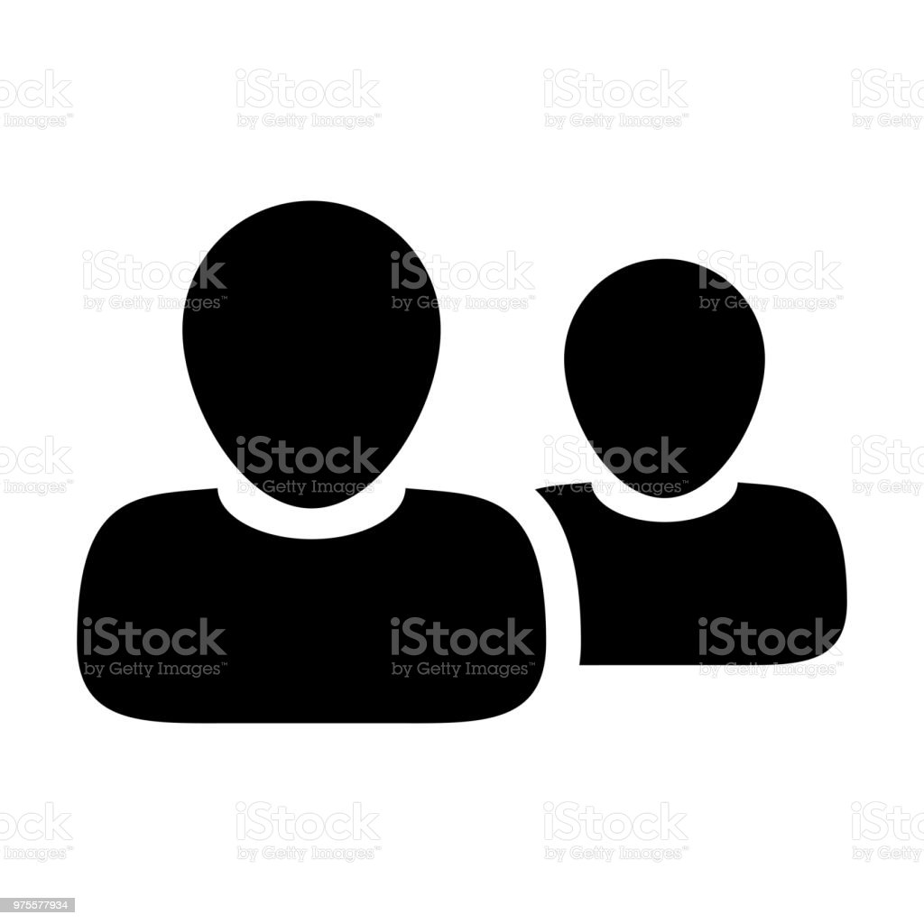 Hr Icon Vector Male Group Of Persons Symbol Avatar For Business