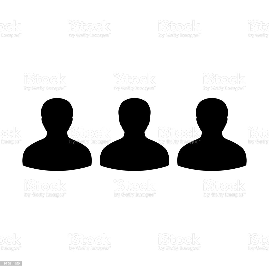 HR-Symbol Vektor männlichen Gruppe von Personen Avatar für Business-Management-Team in flache Farbe Glyphe Piktogramm symbol - Lizenzfrei Arbeit und Beschäftigung Vektorgrafik