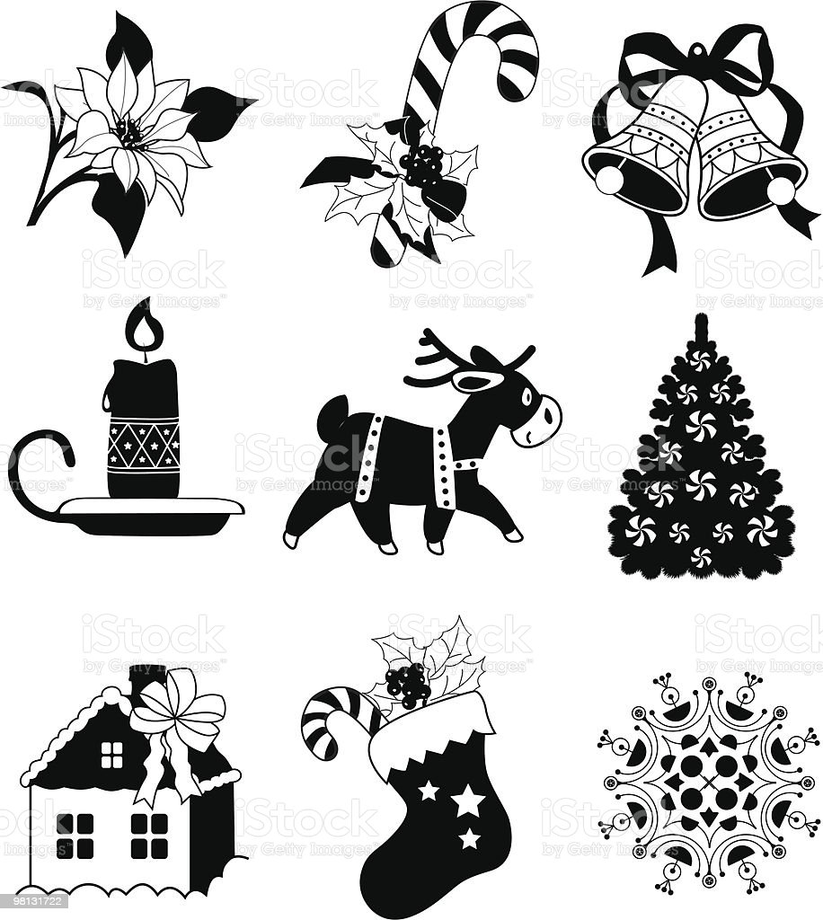 Сhristmas decoration icons royalty-free Сhristmas decoration icons stock vector art & more images of bell