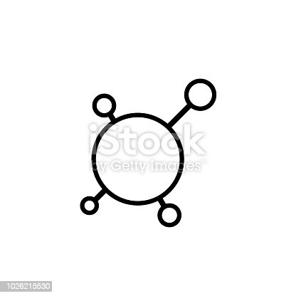 Hub and spoke outline. Vector