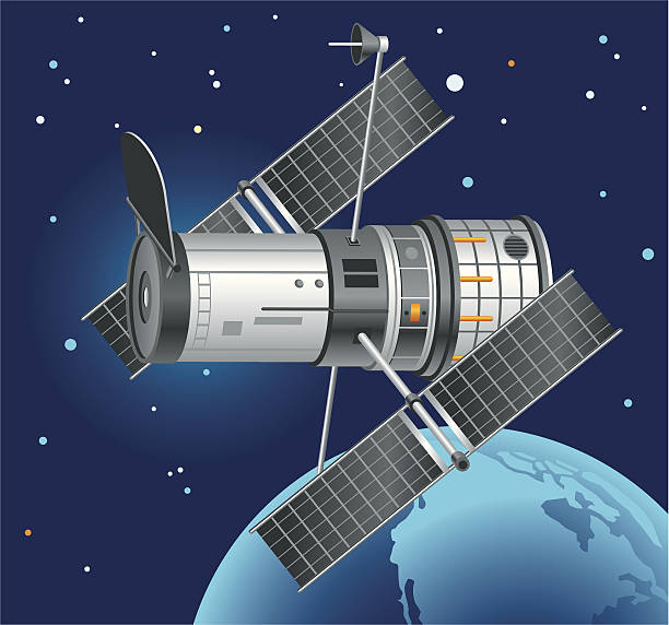 hubble space telescope - astronomy telescope stock illustrations