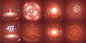 Hud futuristic element. Set of Circle Abstract Digital Technology UI Futuristic HUD Virtual Interface Elements Sci- Fi Modern