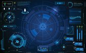 hud interface technology computer communication telecoms innovation concept template design