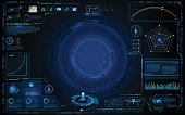 hud interface technology computing screen innovation concept design background