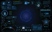 hud interface ui design technology innovation system graphic concept background