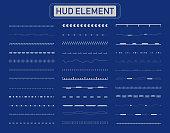 hud lines elements