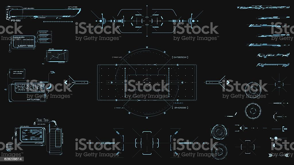 hud technology innovation vector art illustration