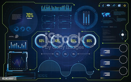 Hud Ui Gui Future Futuristic Screen System Virtual Design ...