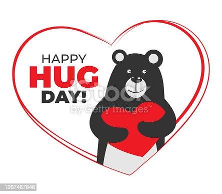 istock Hug Day. Love concept.Valentine's Day Vector Card. 1267467646