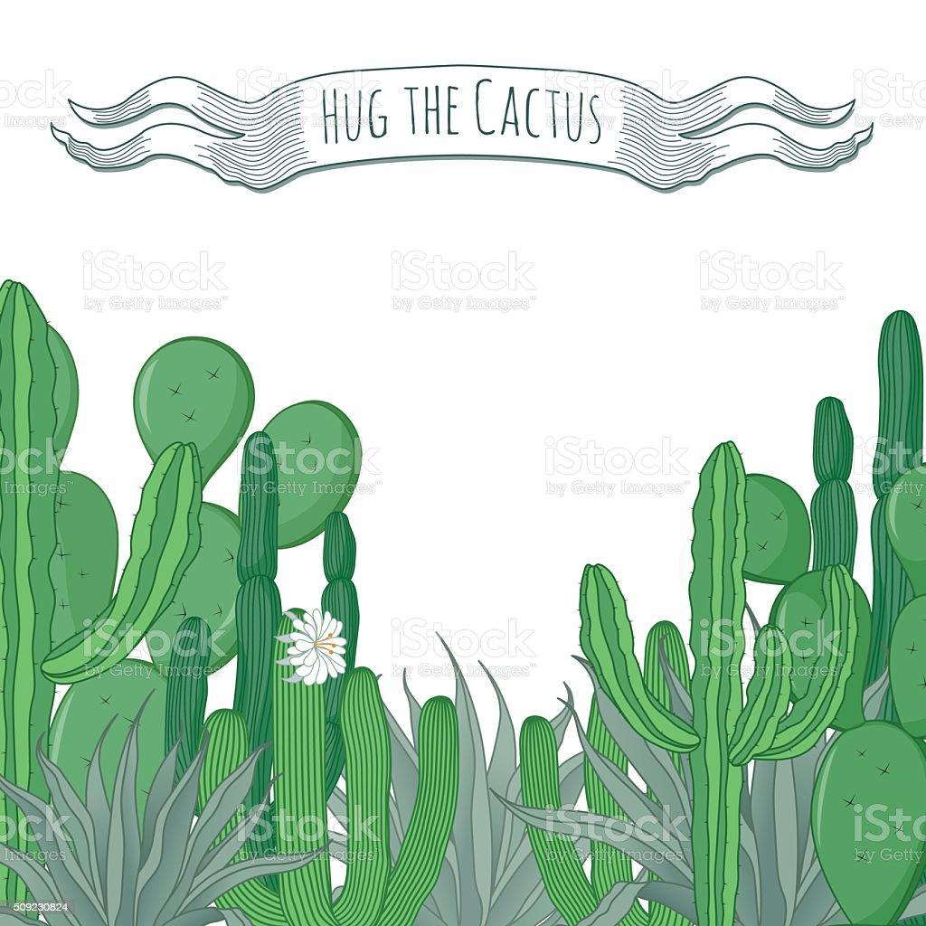 Abbraccio La Carta Di Cactus