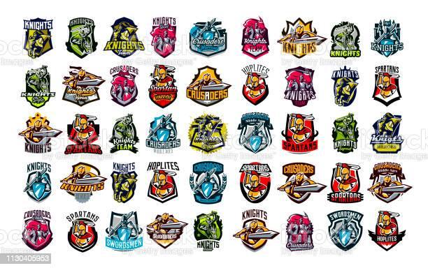 Huge colorful collection of emblems logos badges of knights horsemen vector id1130405953?b=1&k=6&m=1130405953&s=612x612&h=4jdkvyxeikekx2oacsfcnnojfkpomcfq2qgthouvoey=