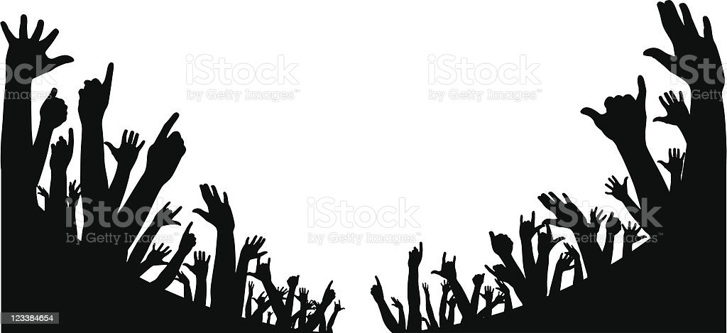 Huge crowd royalty-free huge crowd stock vector art & more images of arms raised
