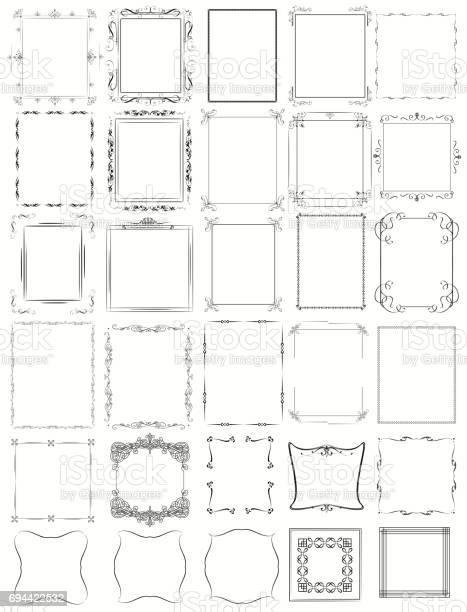 Huge mega collection of vector frames in vintage modern and victorian vector id694422532?b=1&k=6&m=694422532&s=612x612&h=4vt27dvy2zgtsot9un7ocsfa5jcdgwu9uzwftmf3pvm=