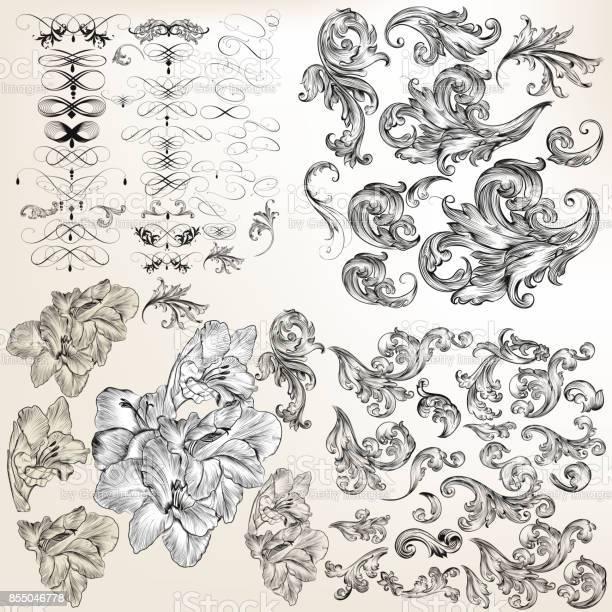 Huge set of vector flourishes swirls and hand drawn flowers vector id855046778?b=1&k=6&m=855046778&s=612x612&h=ochp8iti3kxkpurhdy1x2zw8jr62ucff0a6pxr9cmrq=