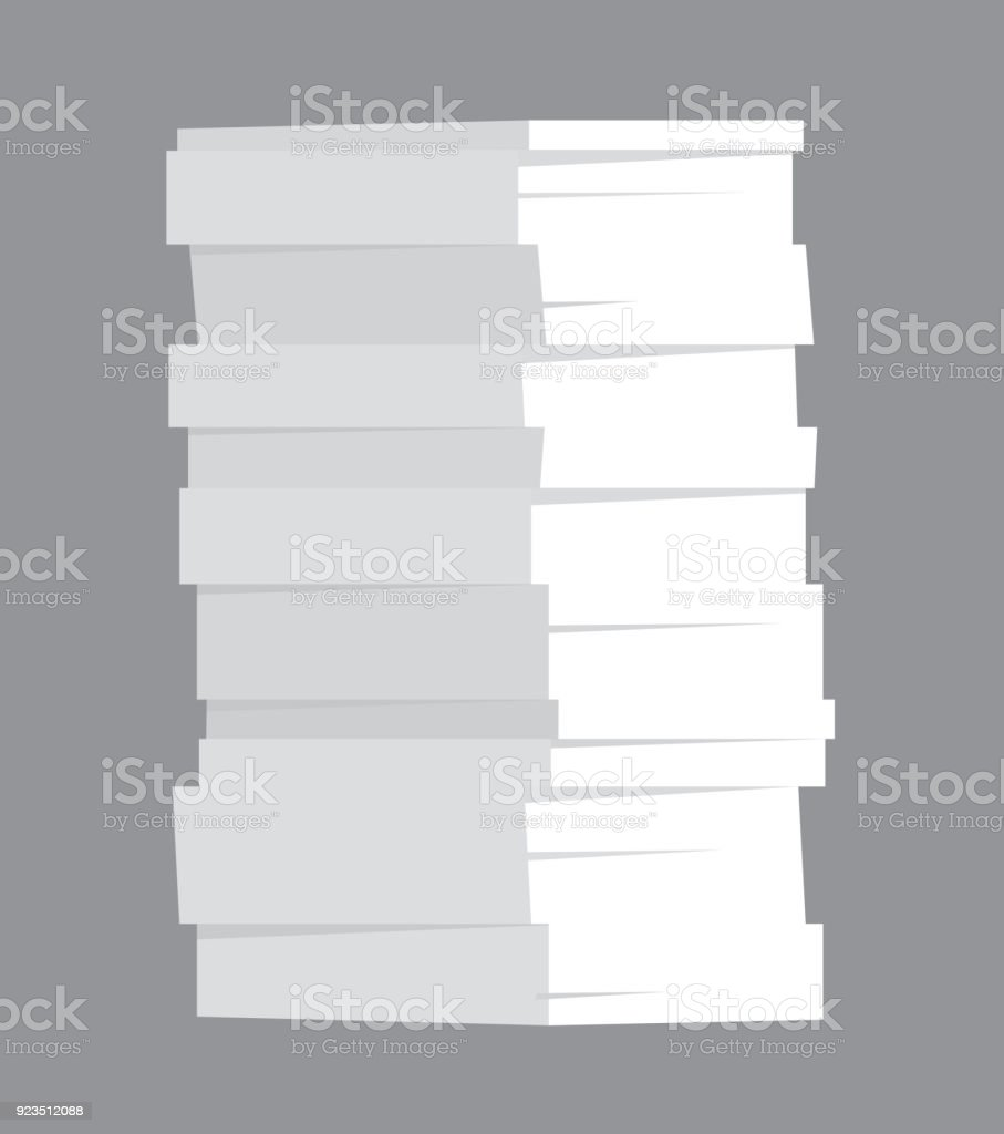 Huge Stack Of Paper Stock Illustration - Download Image Now