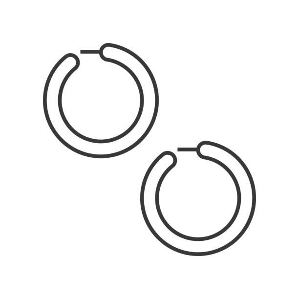 Best Hoop Earring Illustrations, Royalty-Free Vector