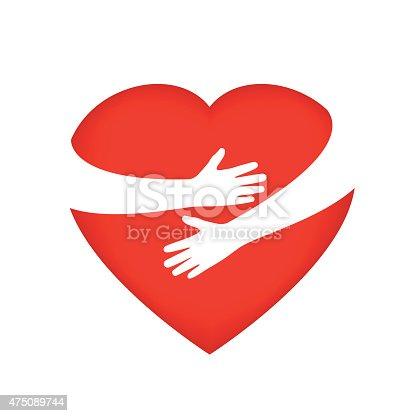 istock Hugging someone's heart 475089744
