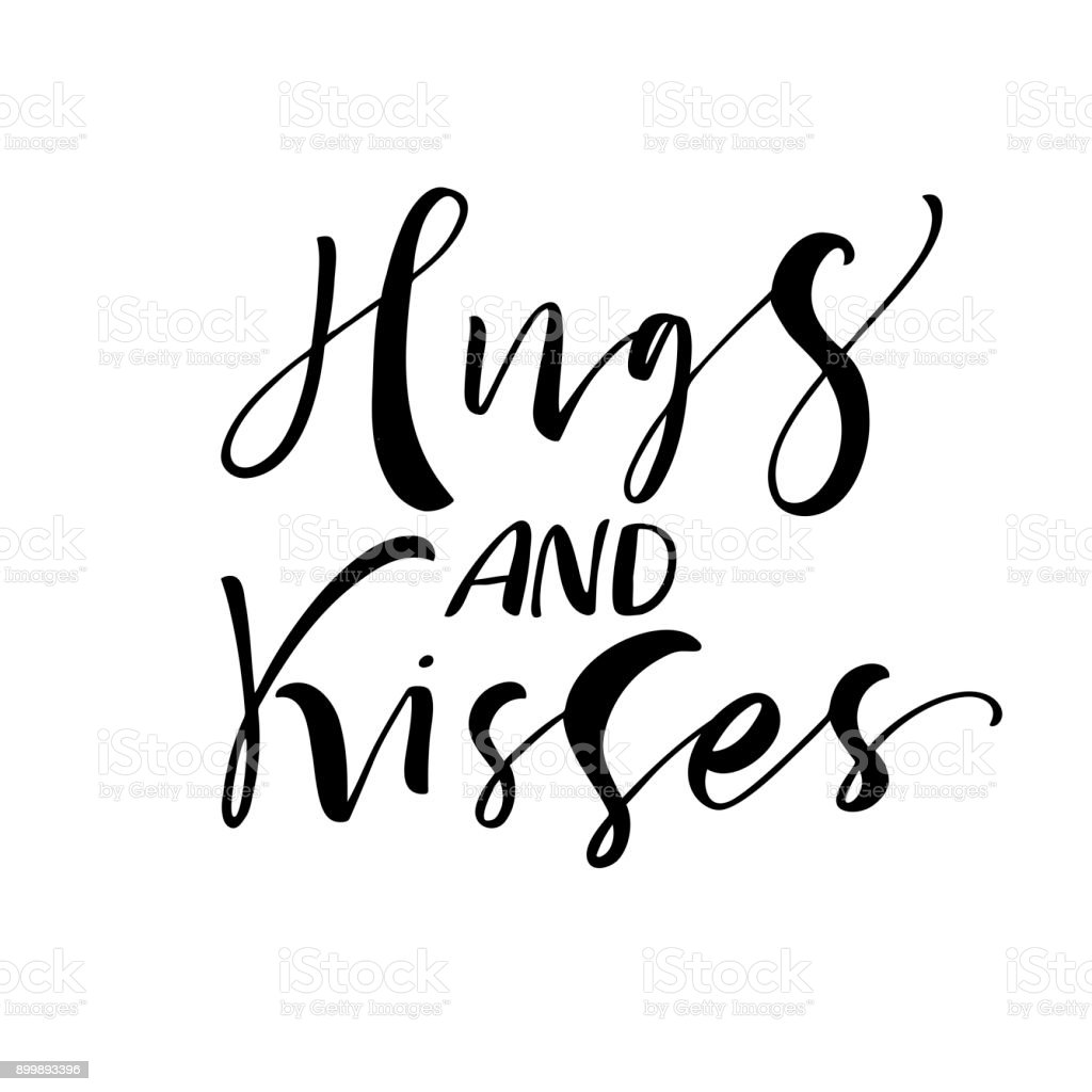 Hugs And Kisses Card Stock Vector Art More Images Of Abstract