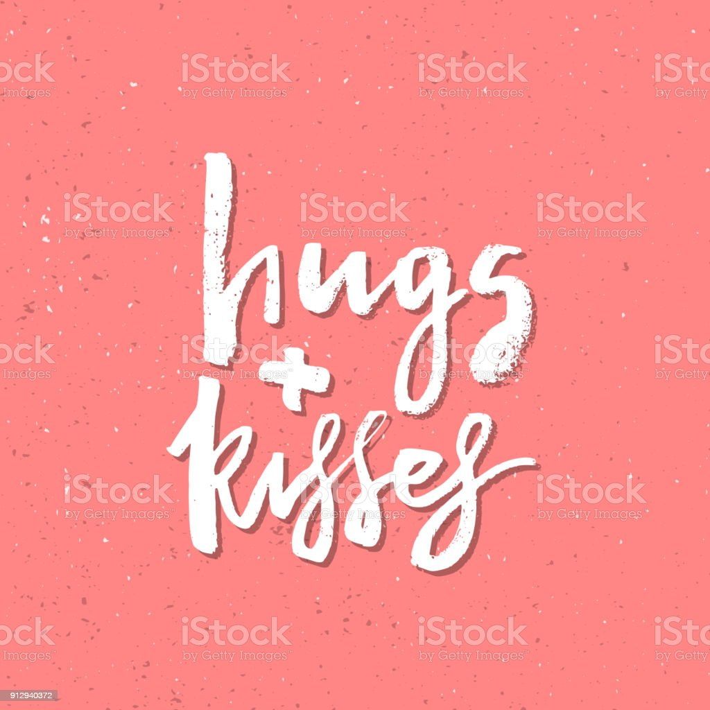 Hugs And Kisses Inspirational Valentines Day Romantic