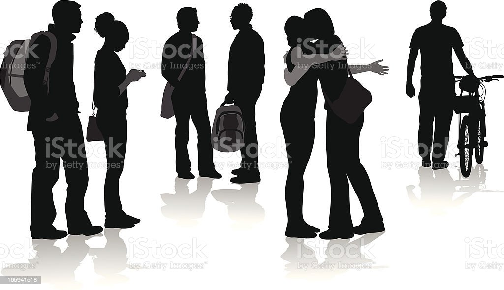 Hugs Vector Silhouette royalty-free stock vector art