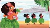 Hula dancer in Hawaii.