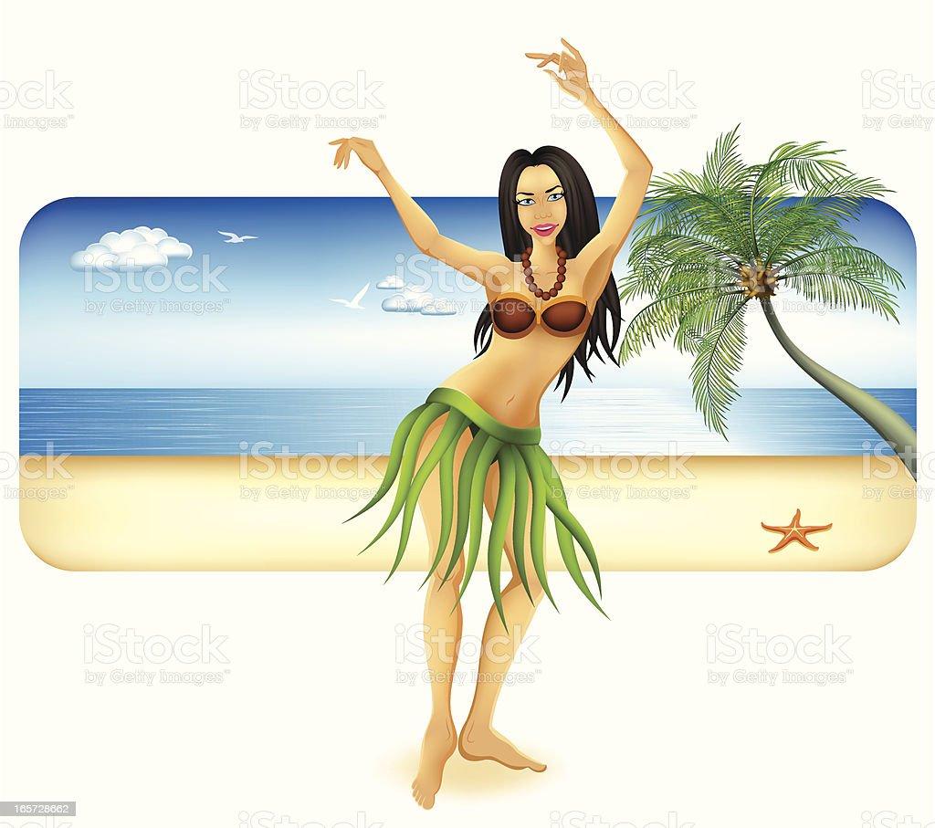 Hula Dancer royalty-free stock vector art