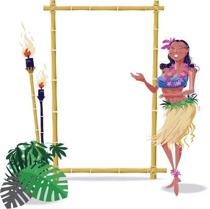 Hula Dancer with Frame