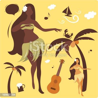 istock Hula Dancing ( Wonderful Hawaii Vacation ) 165631704