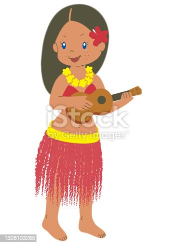 istock Hula girl playing the ukulele 1328103265