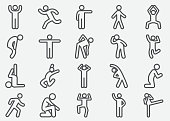 Human Action Line Icons