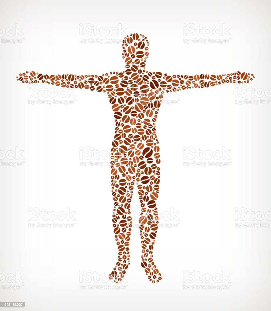 Human Anatomy Royalty Free Coffee Bean Pattern stock vector art ...