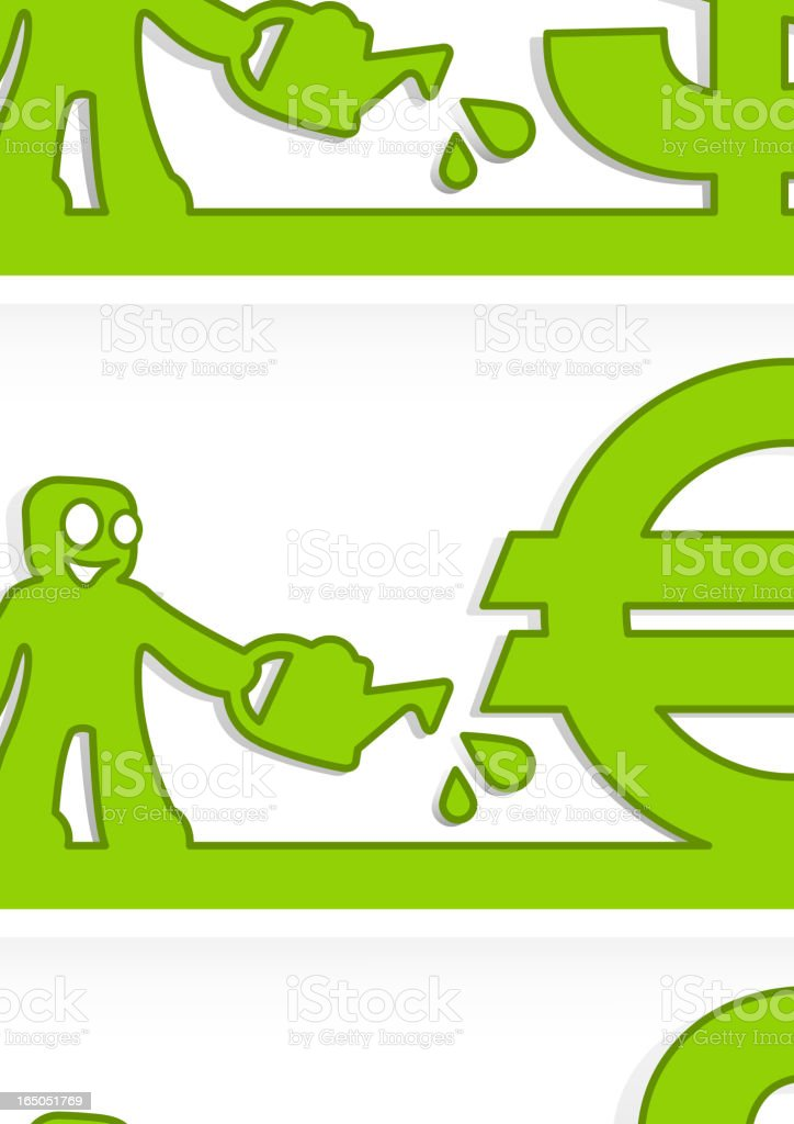 Human and money signs royalty-free stock vector art