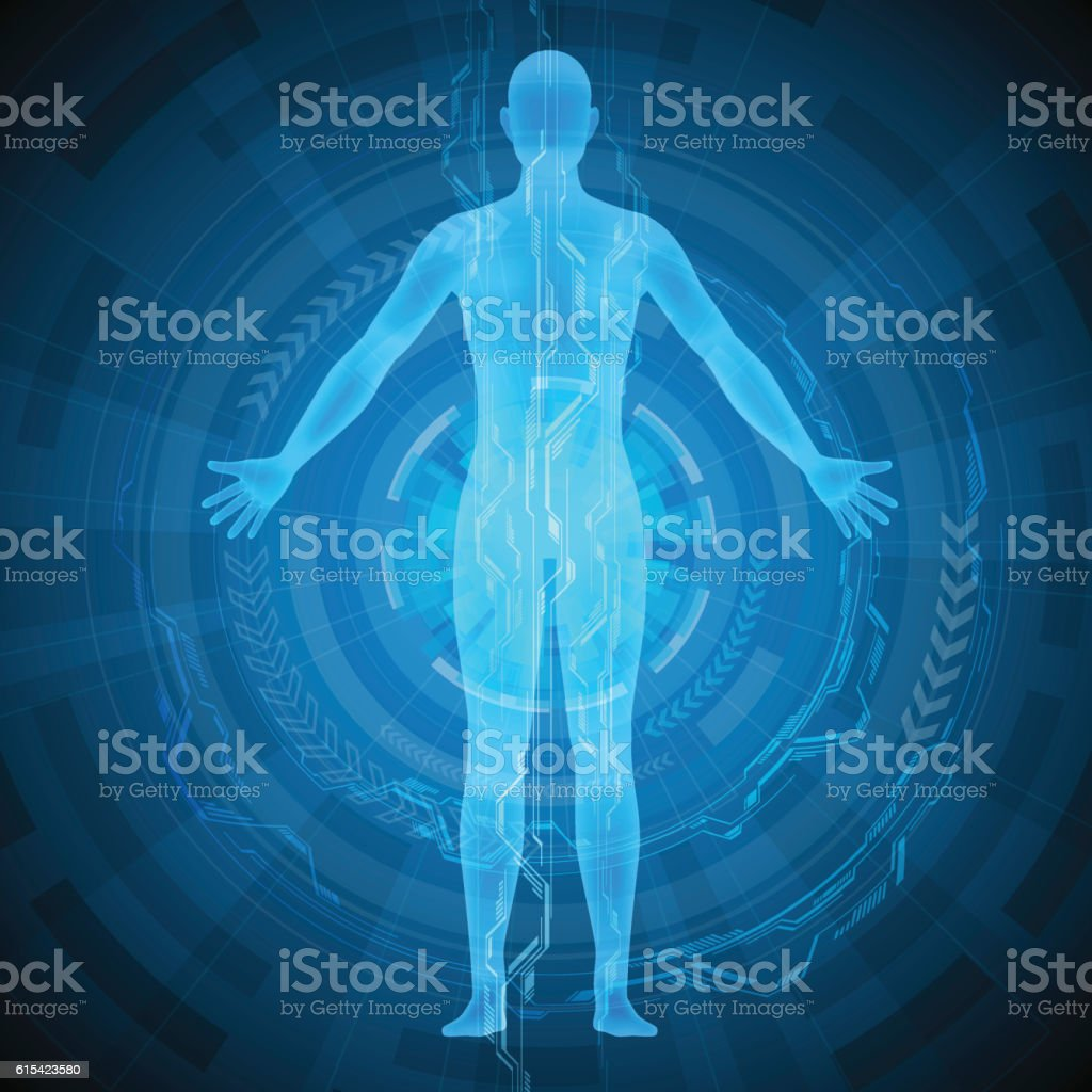 Human Body And Medical Technology Abstract Image Stock