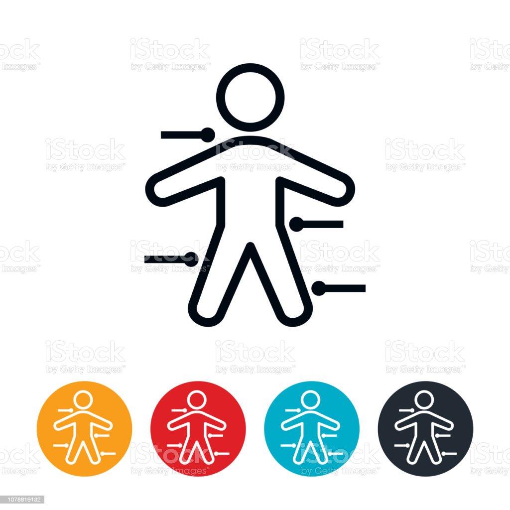Human Body Diagram Icon vector art illustration