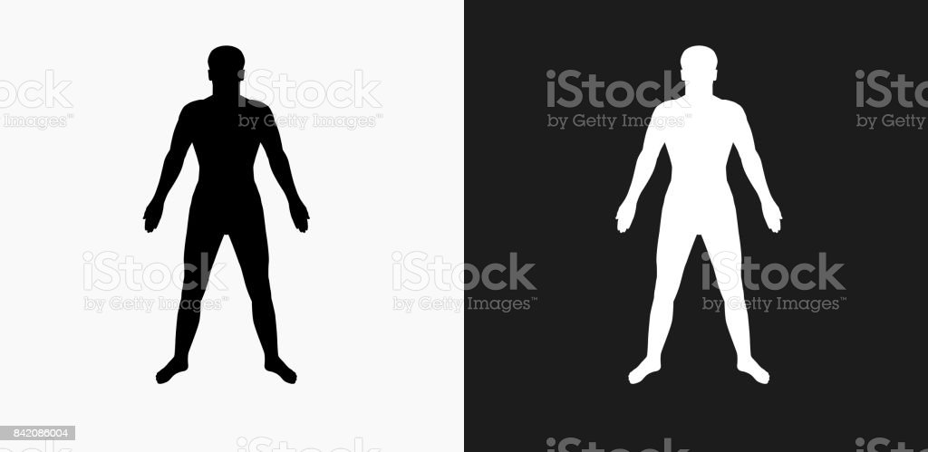 human body icon on black and white vector backgrounds stock illustration download image now istock human body icon on black and white vector backgrounds stock illustration download image now istock