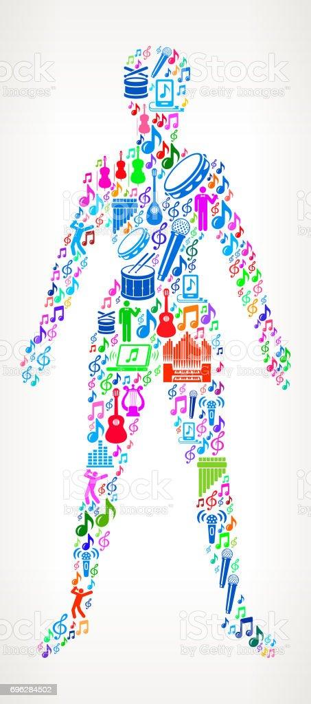 Menschlichen Körper Musik Und Musikalische Feier Vektor Icon ...